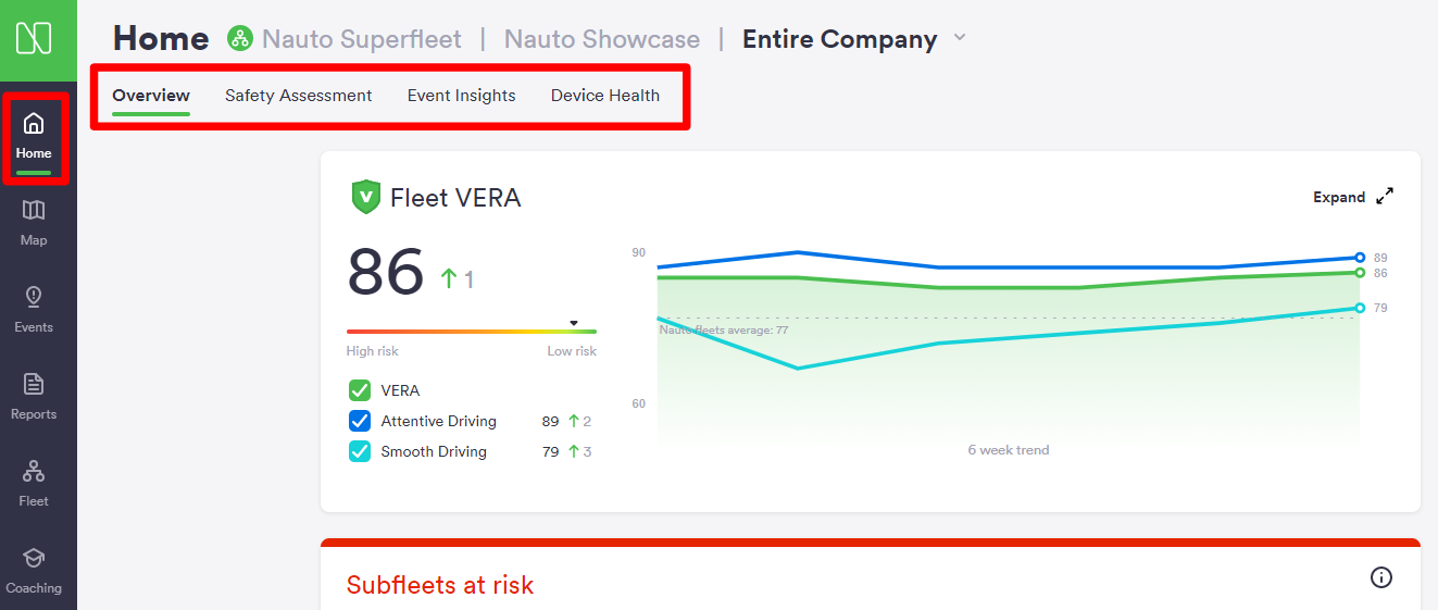 VERA Safety Scores for Driver Coaching