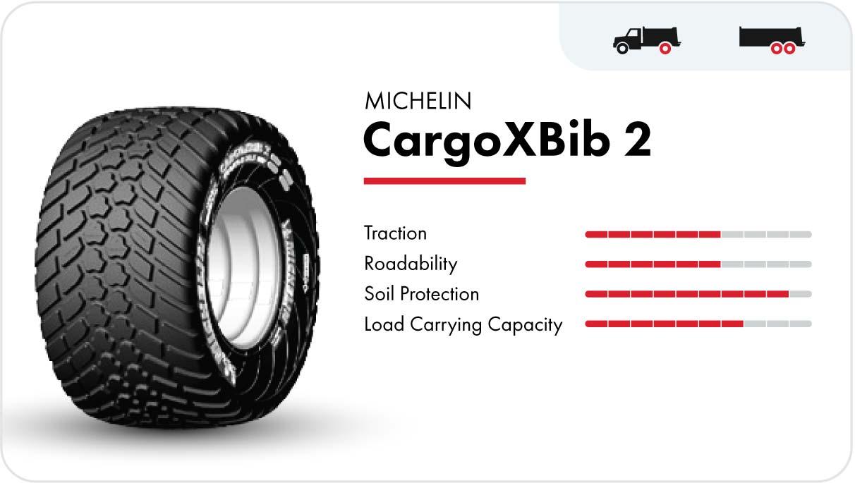 Michelin CargoXBib 2 high-speed flotation tire
