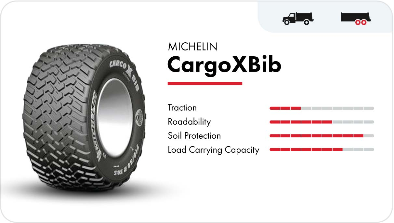 Michelin CargoXBib high-speed flotation tire