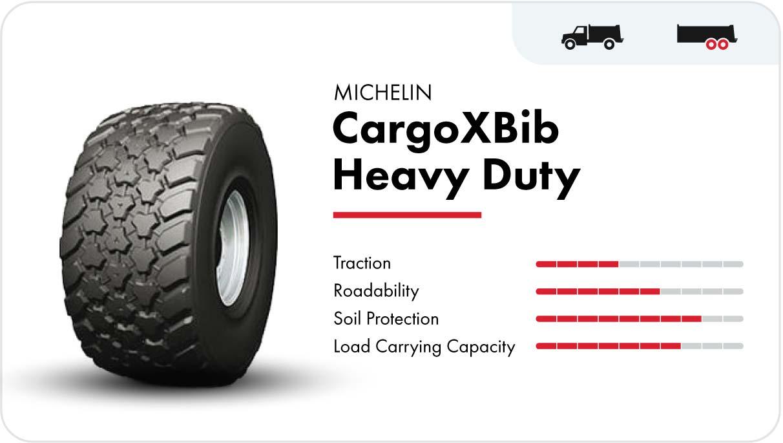 Michelin CargoXBib Heavy Duty high-speed flotation tire
