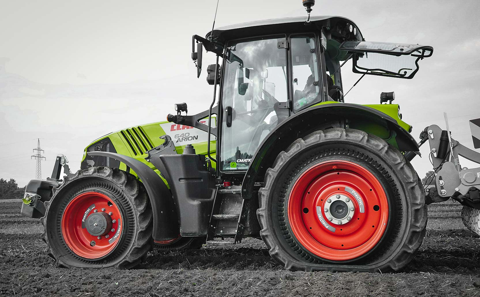 tractor with the Mitas PneuTrac tire