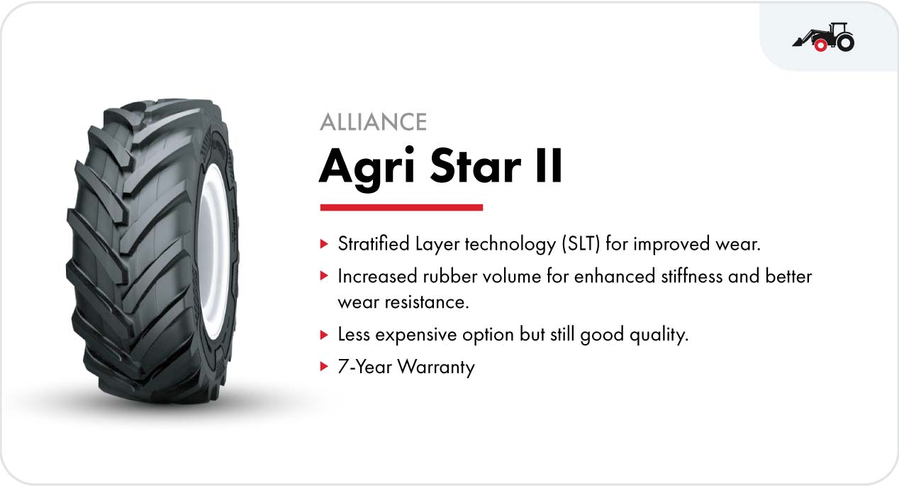 Alliance Agri Star II front tractor tire for loader tractors