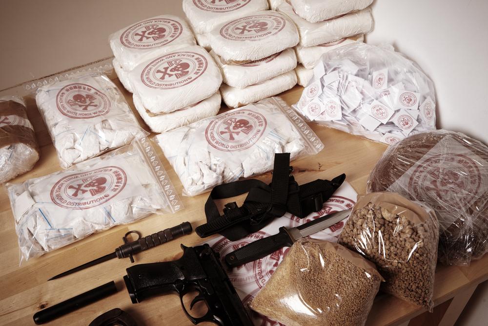 cocaine and guns