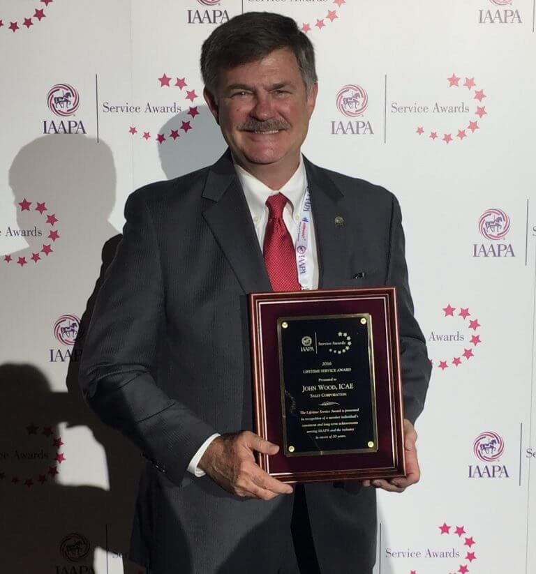 John Wood, CEO of Sally Corporation, received the IAAPA Lifetime Service Award
