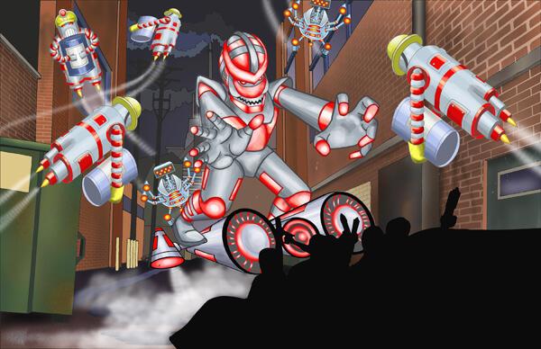 Scene 4- Android Attack!