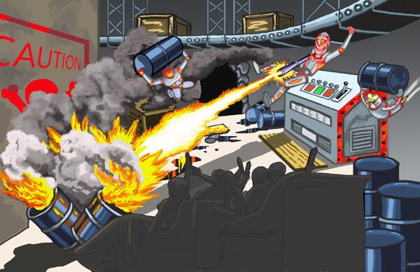Scene 5 - Robot Warehouse