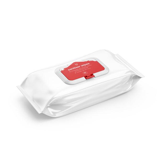 Packet of 60 Sanitiser Wipes - DW60
