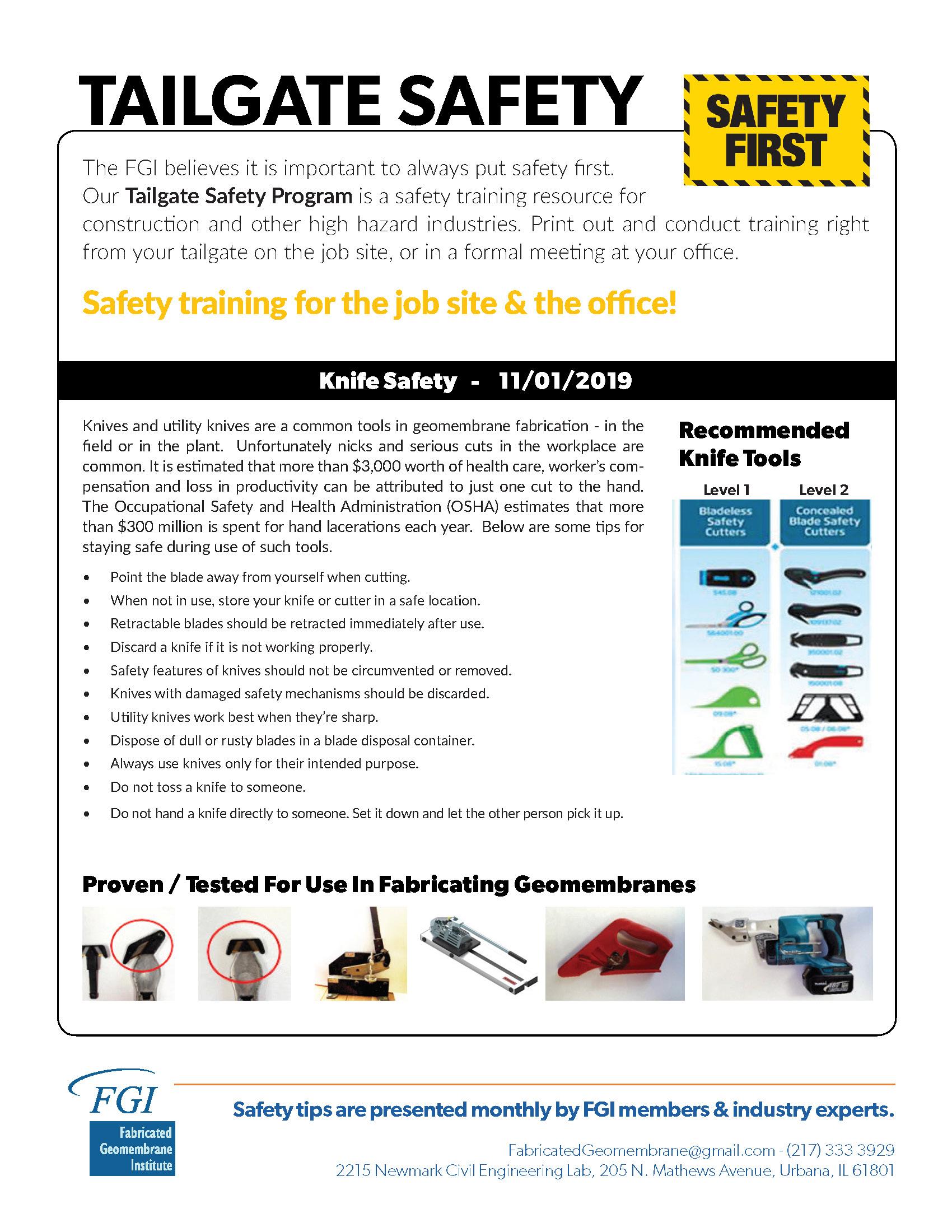 safety tailgate pdf