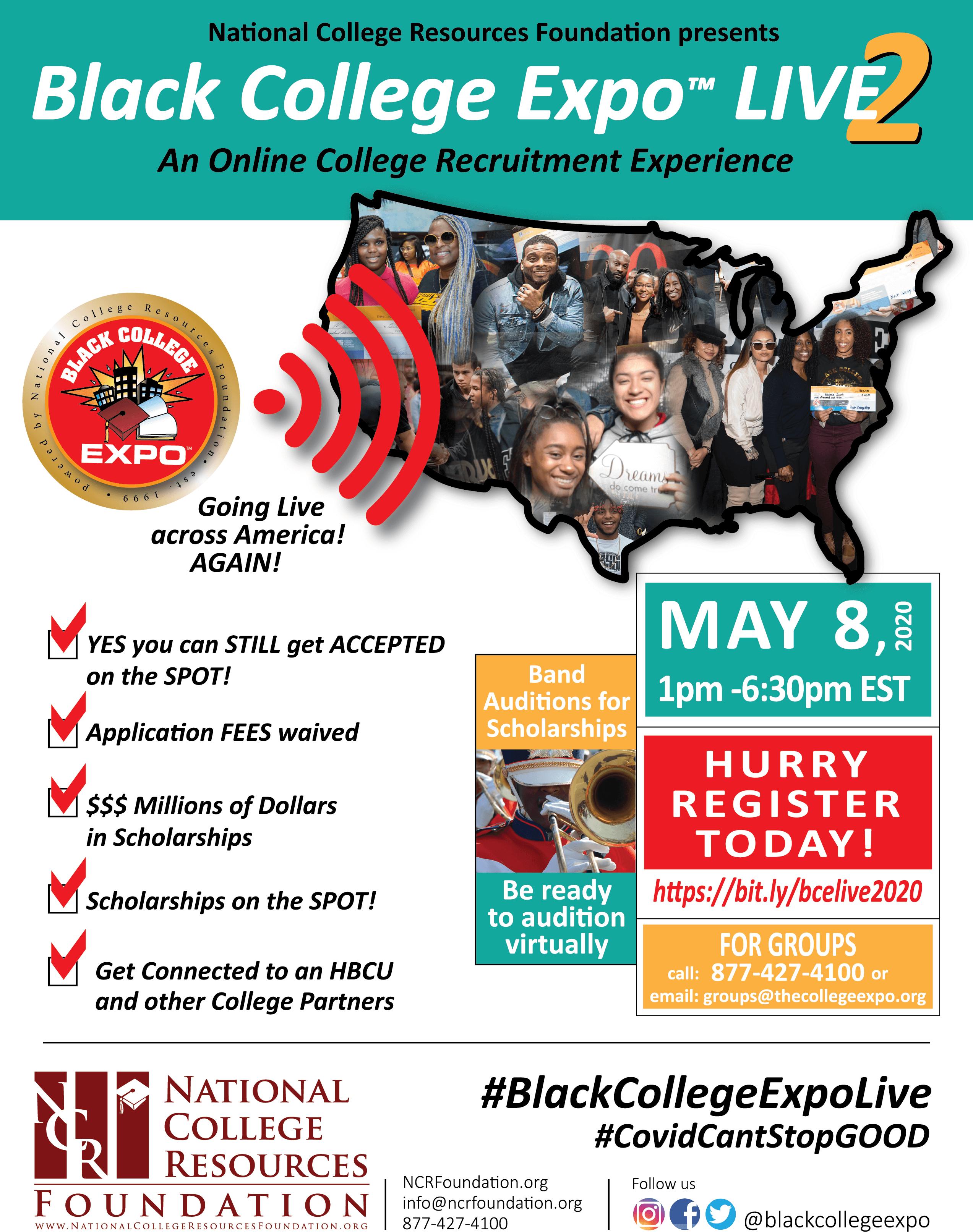 black college expo flyer