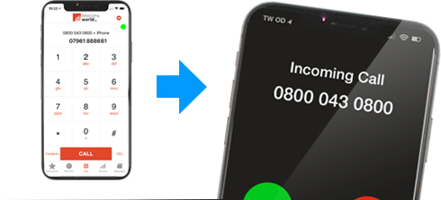 With TW Dial Out, you can make calls from your mobile but present a business number on the receiving phone and maintain a professional image.