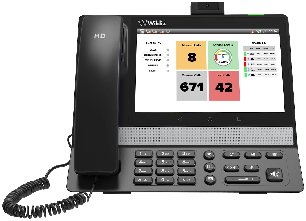 Up to 25% saved time in daily operations with Wildix Cloud PBX