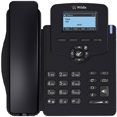 Wildix WP410 VoIP phones are simple and intuitive