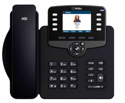 Wildix WP480G VoIP phones have an intuitive interface