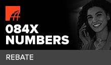 What is an 0844 Rebate Number?