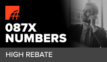 What is a 087 high rebate number?