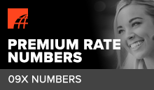 What is a 09 premium rate number?