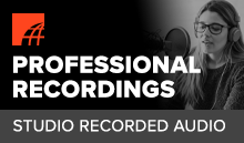 What is a professional voice recording?