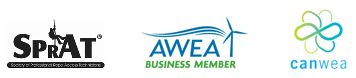 SPRAT, AWEA and CANWEA Logos