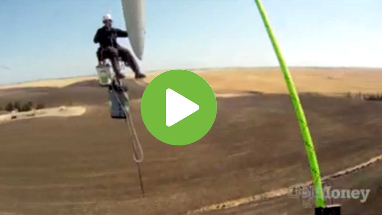CNN Money - Get Paid To Climb Wind Turbines