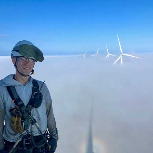 Rope Partner Windcorps Technician Christian Patno