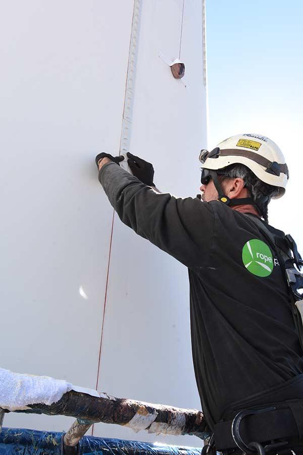 Vortex Generator Installation on Wind Turbine Blade