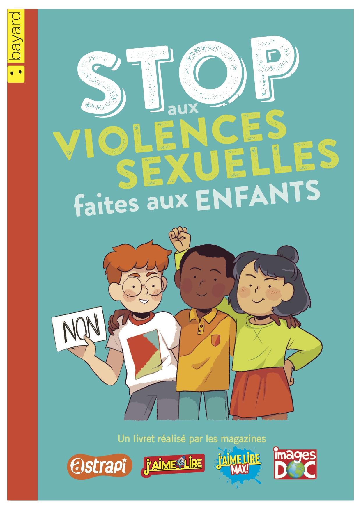 """Couverture livret """"Stop aux violences sexuelles faites aux enfants"""""""