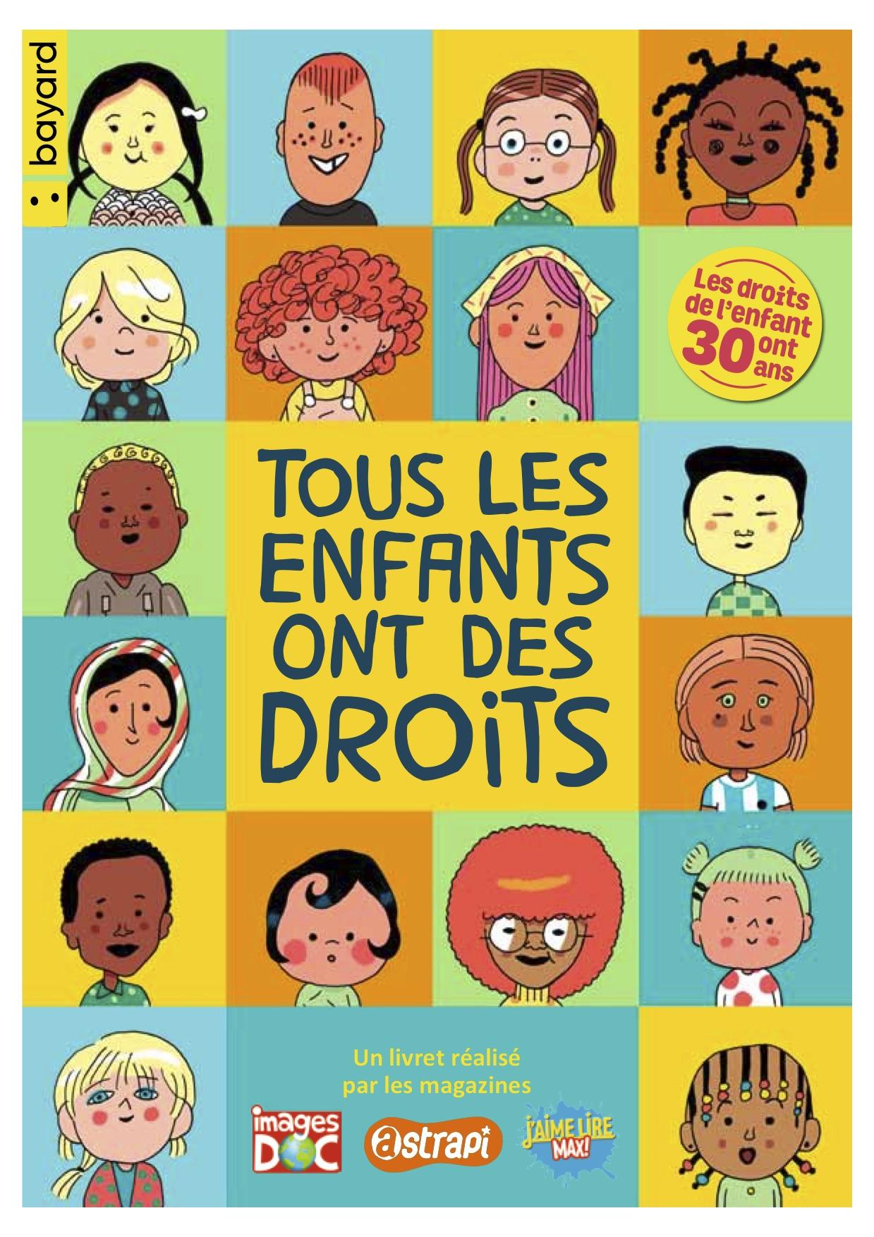 """Couverture livret """"tous les enfants ont des droits"""""""