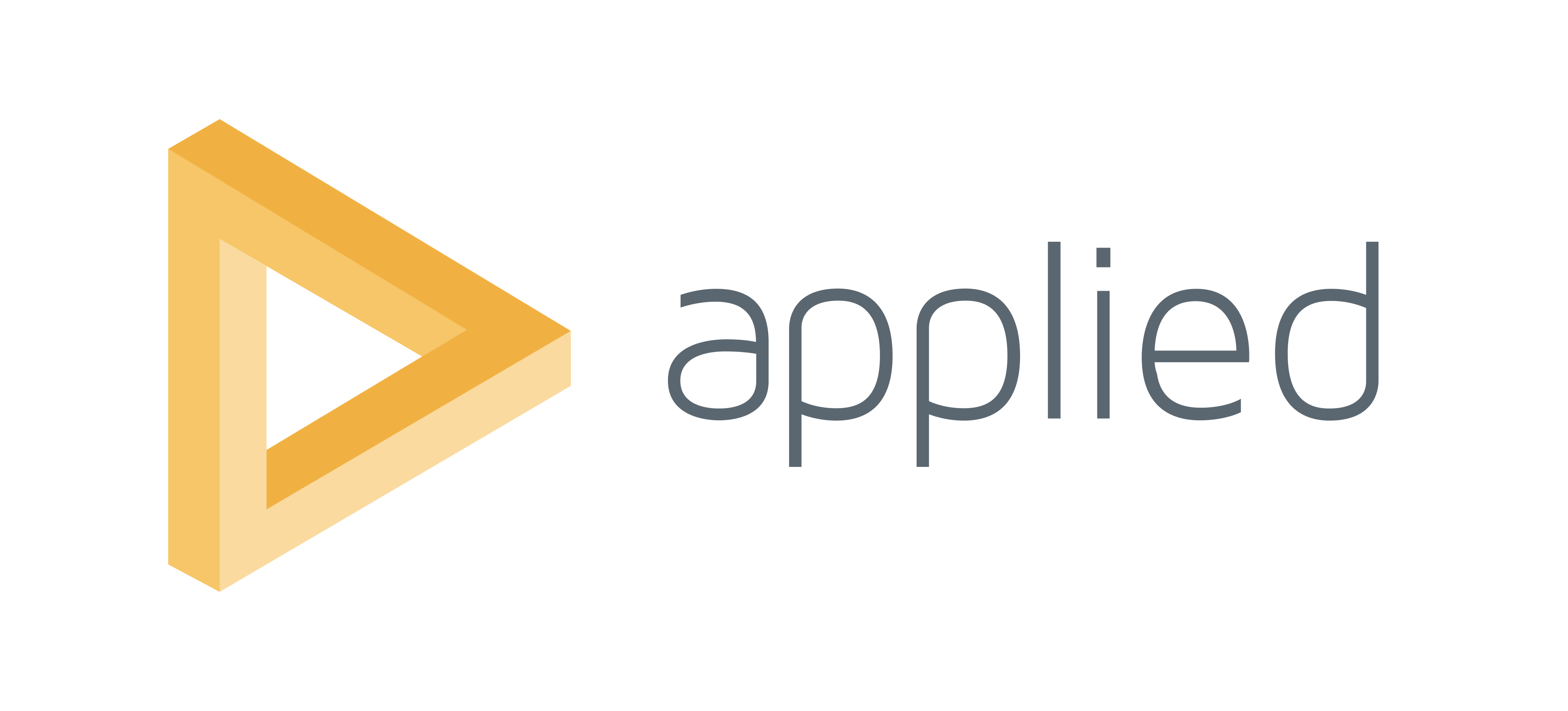 A logo for Applied, of the 'impossible triangle'