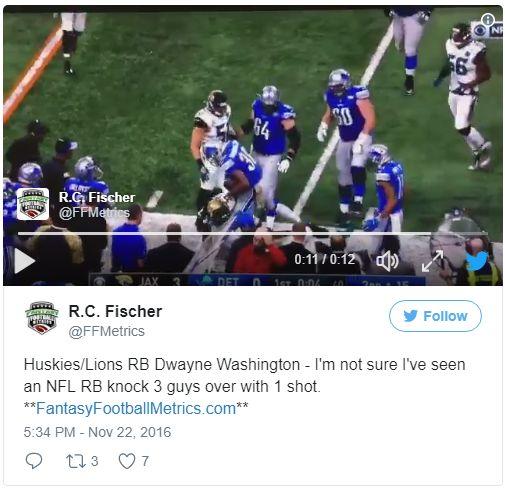 Huskies/Lions RB Dwayne Washington