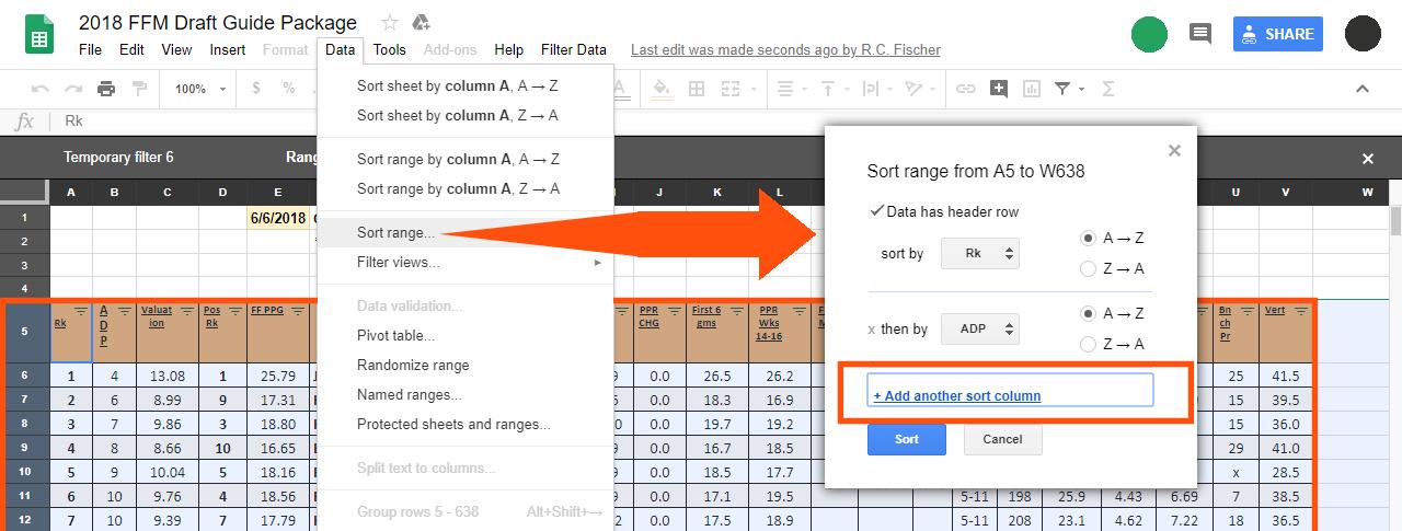 filter data gsheets