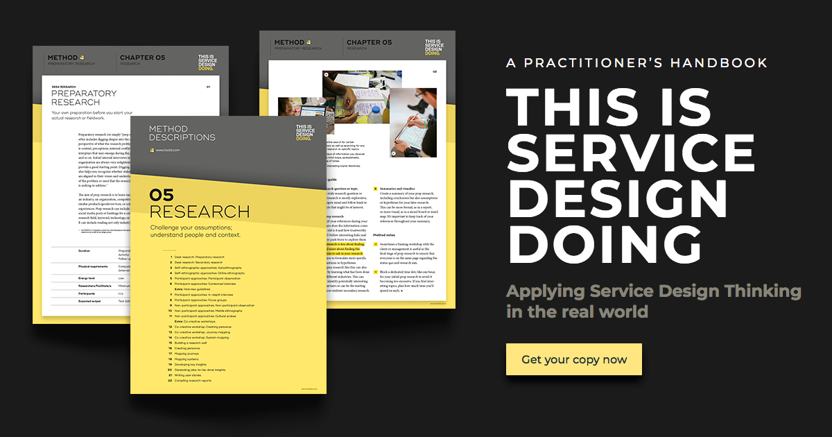 Method Library — This is Service Design Doing