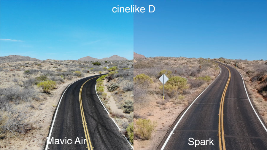 Сравнение изображений с камер DJI Mavic Air и DJI Spark в режиме Cinelike D