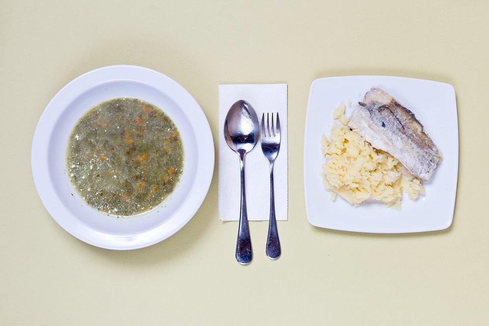 Типичный школьный обед