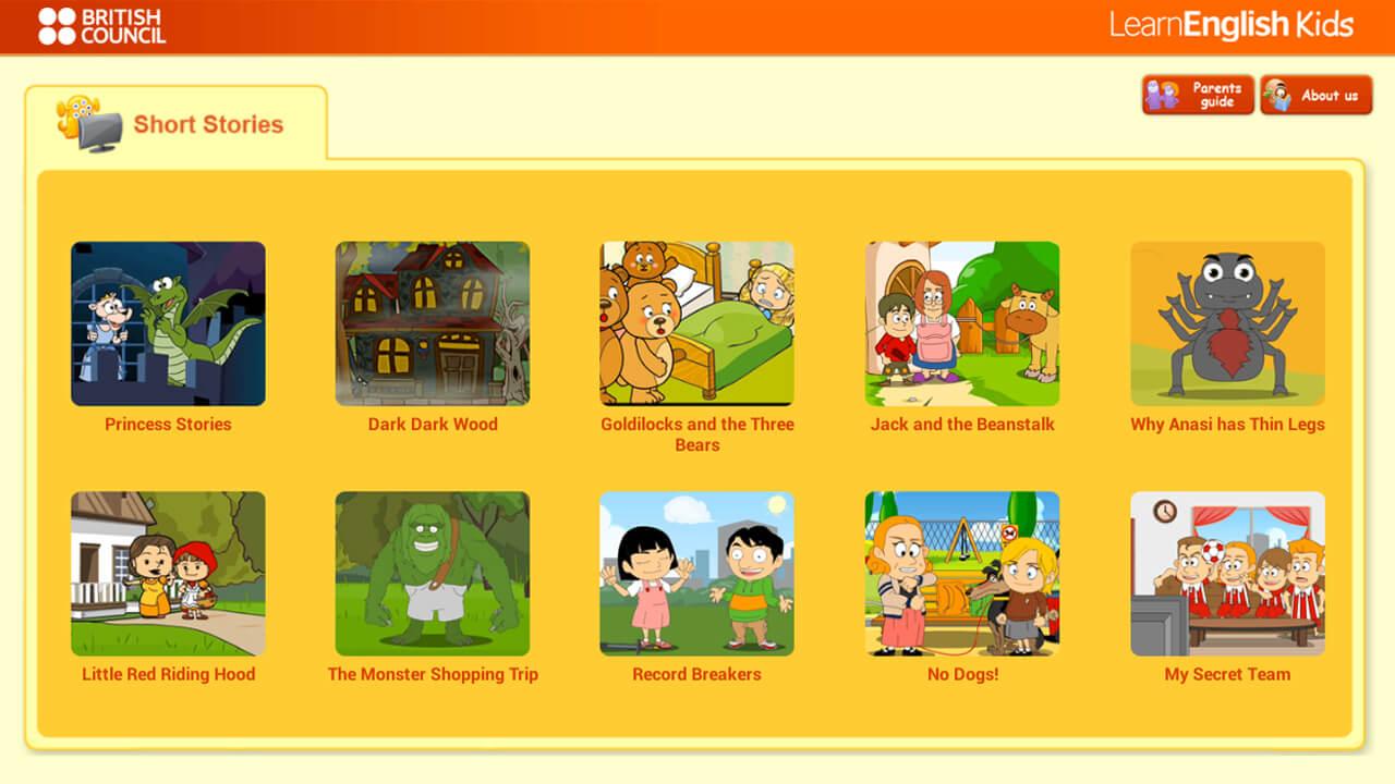 Образовательный сайт Learn English Kids для первоклассников