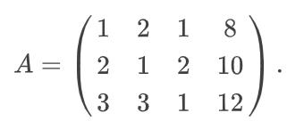 Расширенная матрица A