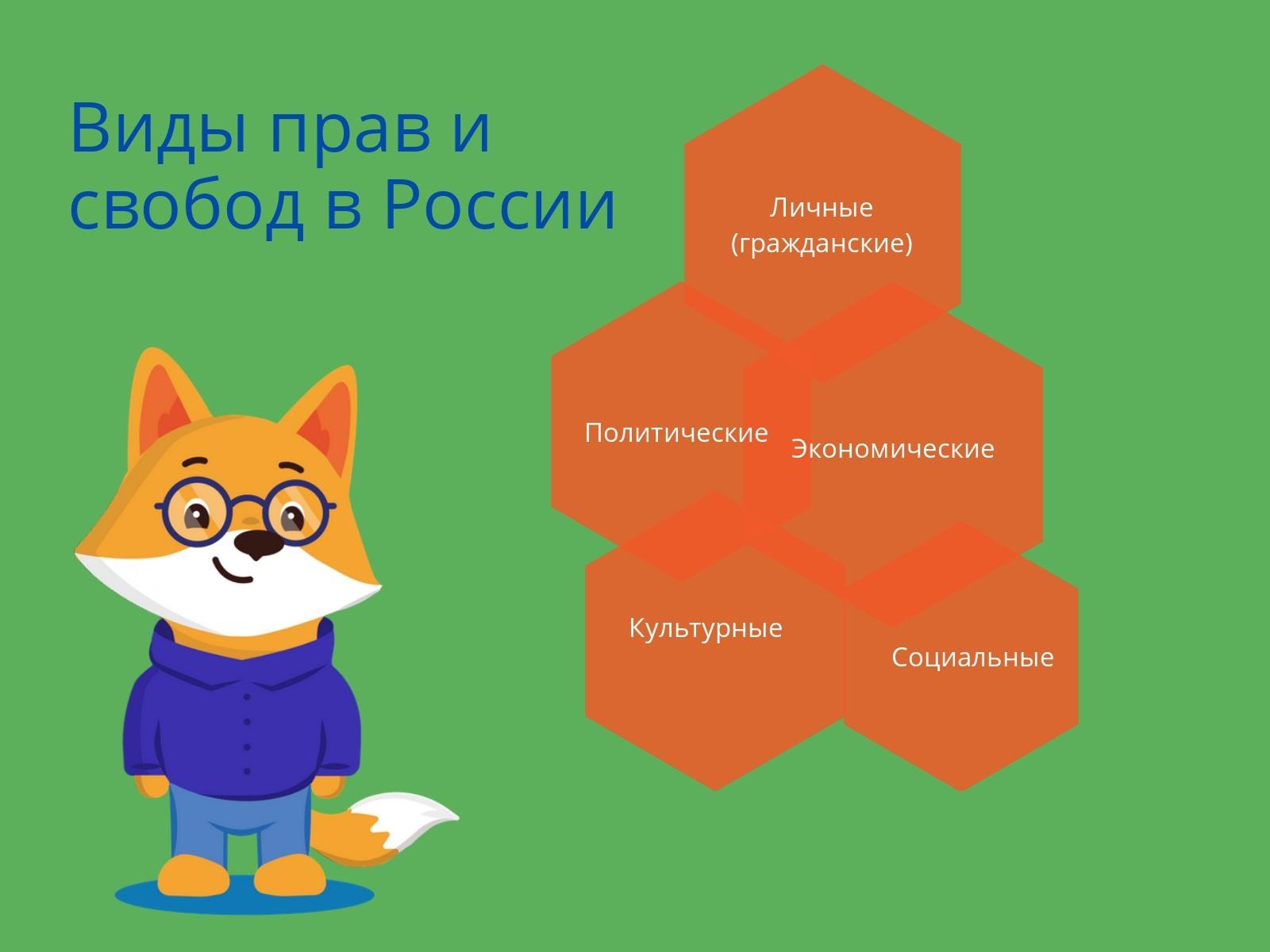Классификация прав и свобод граждан Российской Федерации