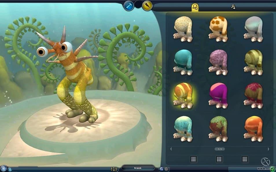 Spore — игра, иллюстрирующая эволюционный процесс