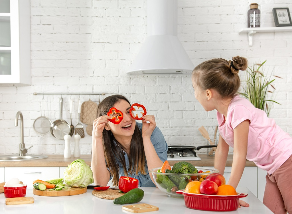 Готовьте вместе с детьми-вегетарианцами