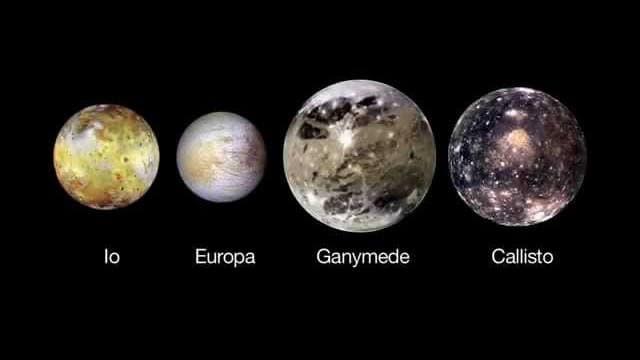 Крупнейшие спутники Юпитера