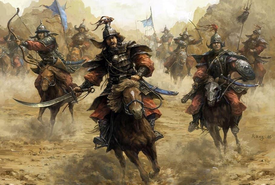 Атака монгольских всадников