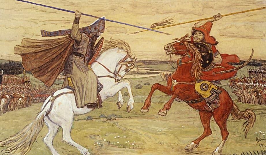 Виктор Васнецов «Бой Пересвета и Челубея», 1914