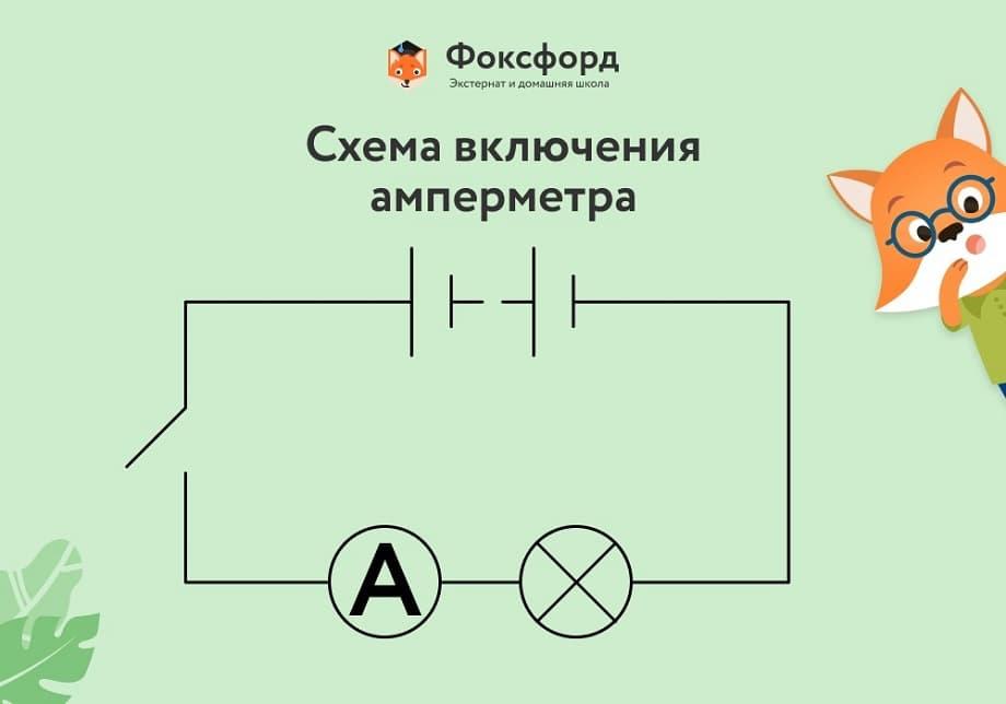 Схема включения амперметра