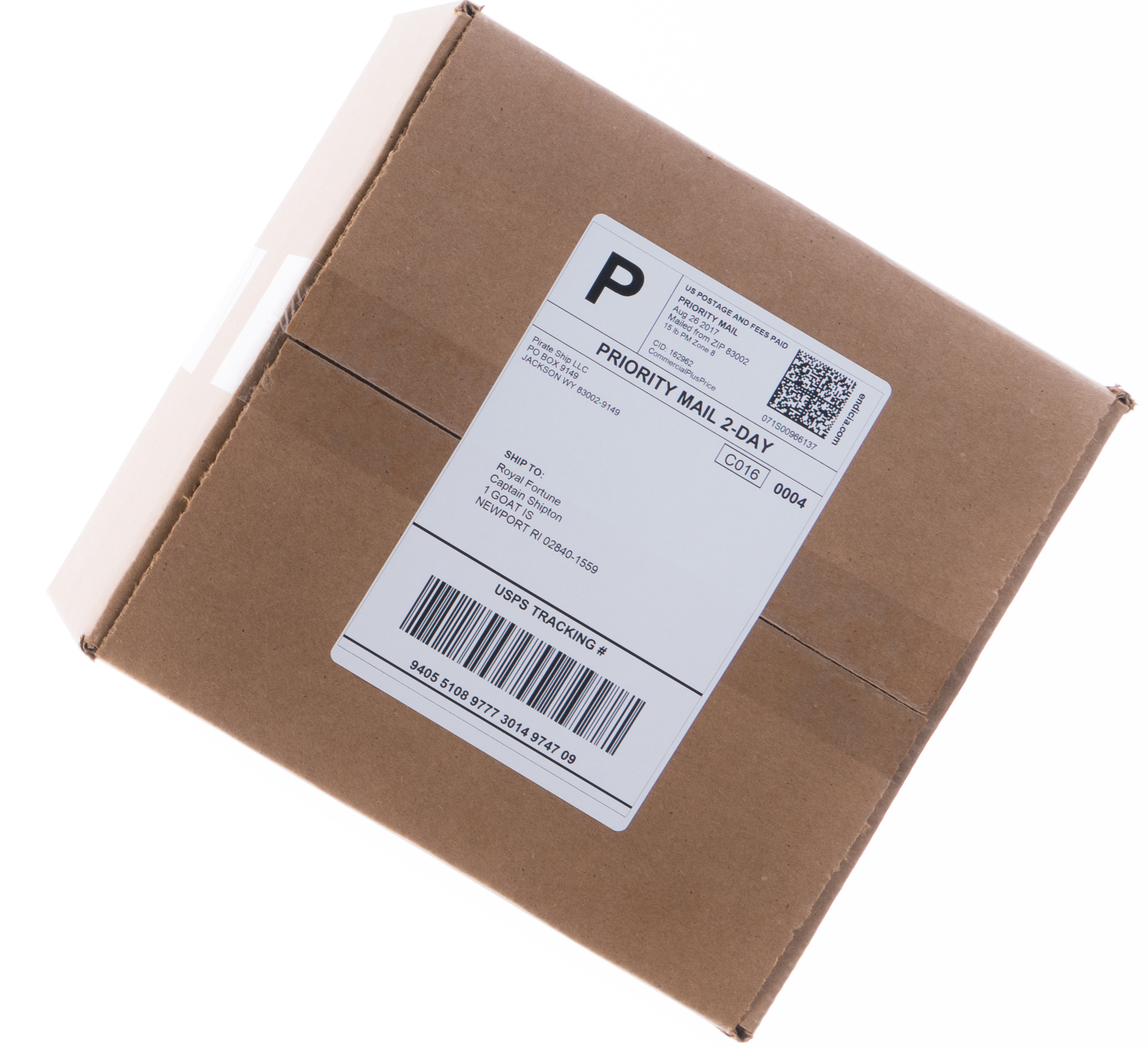 Priority Mail Cubic package