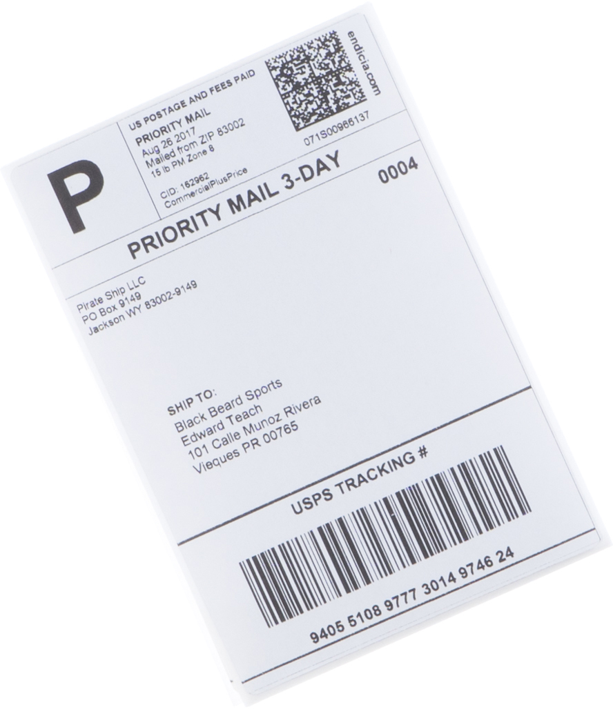 Discount Priority Mail Cubic postage label
