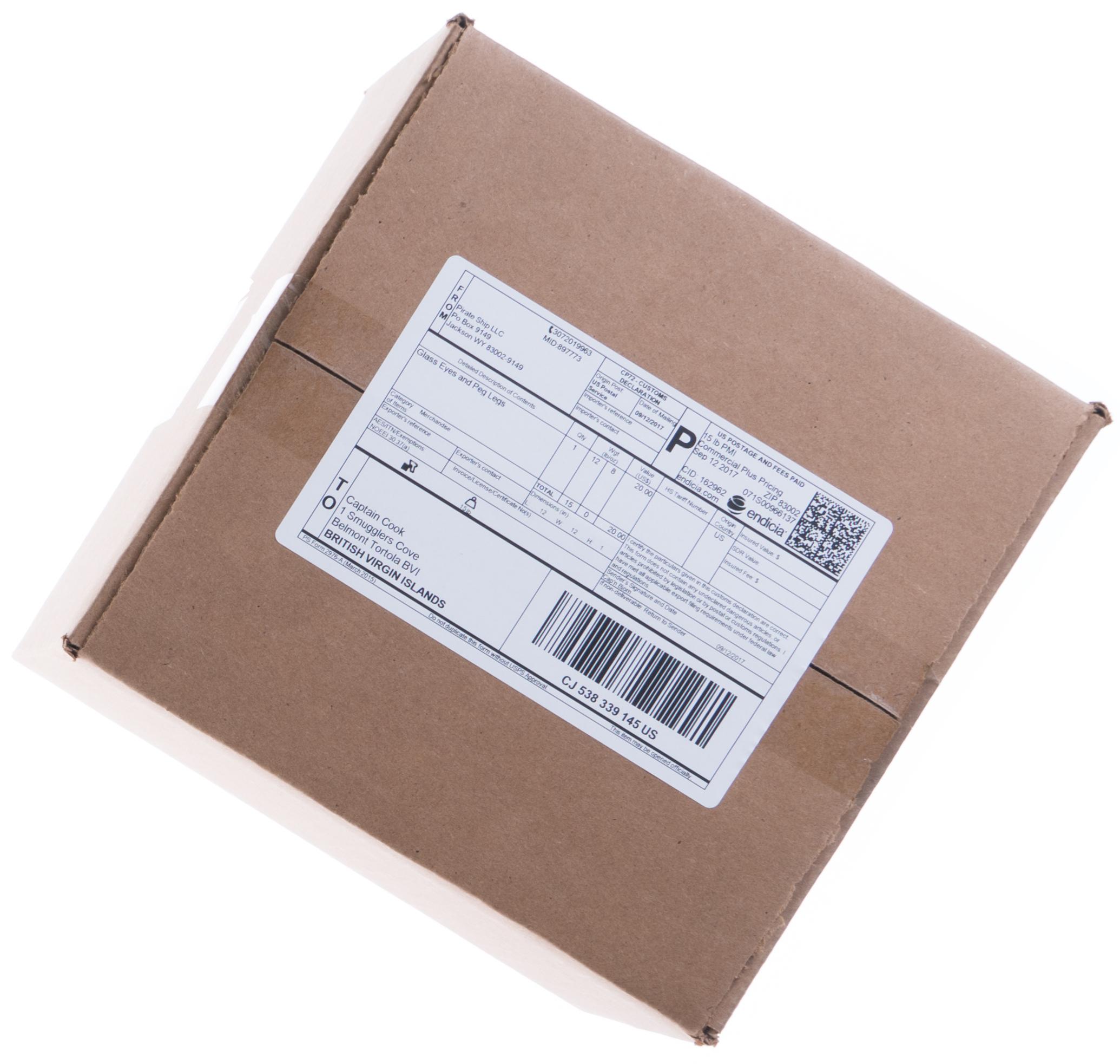 USPS Priority Mail International box