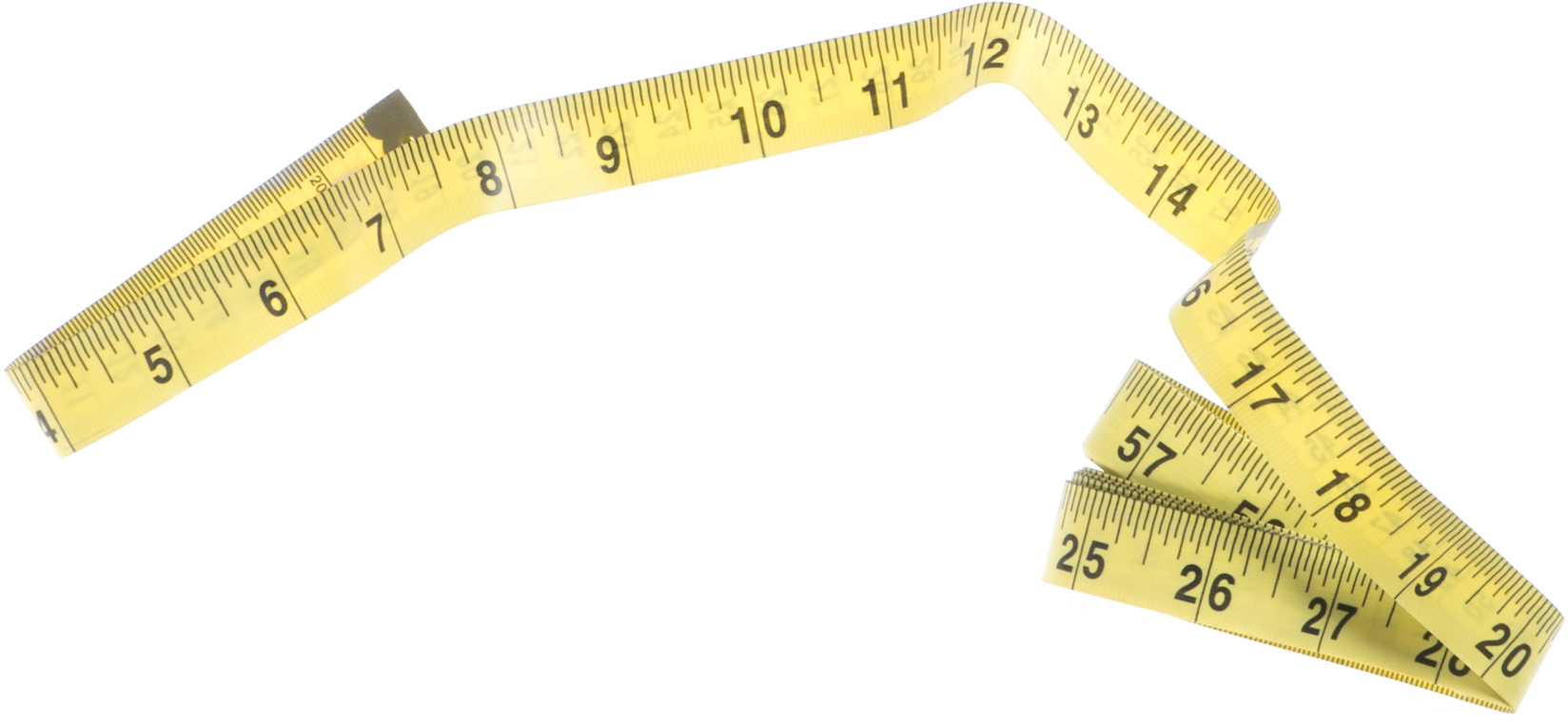 A photo of a yellow measuring tape