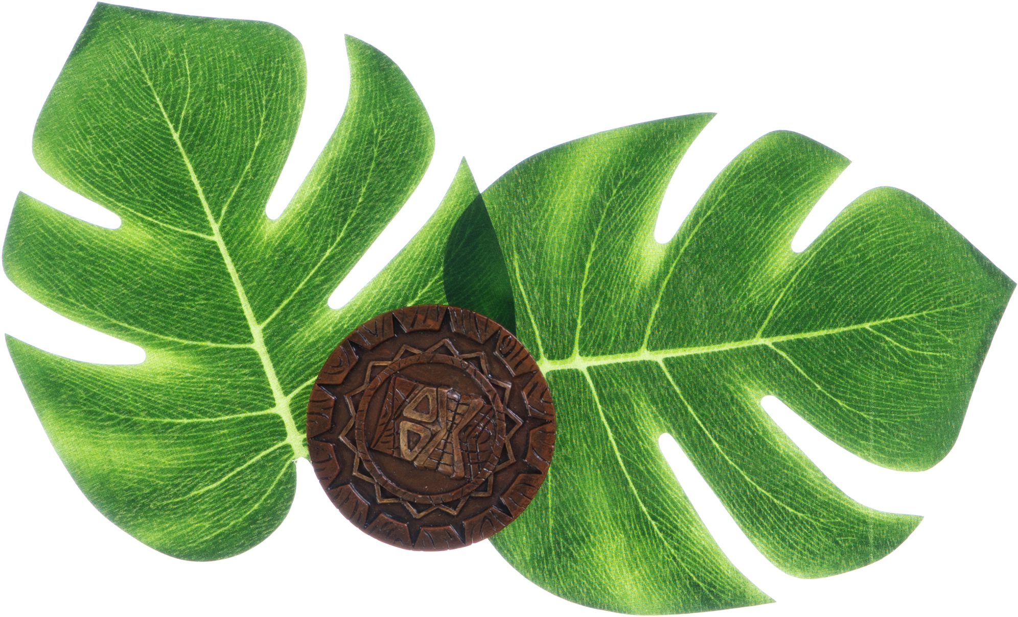 Tropical leaves and drinks coaster