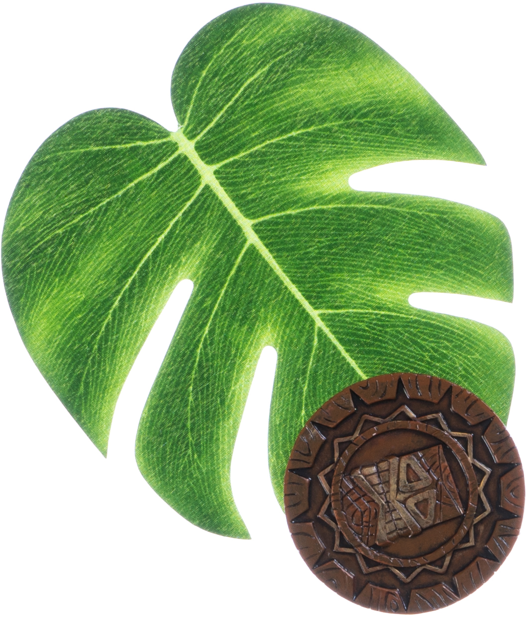 Tropical leaf and coaster