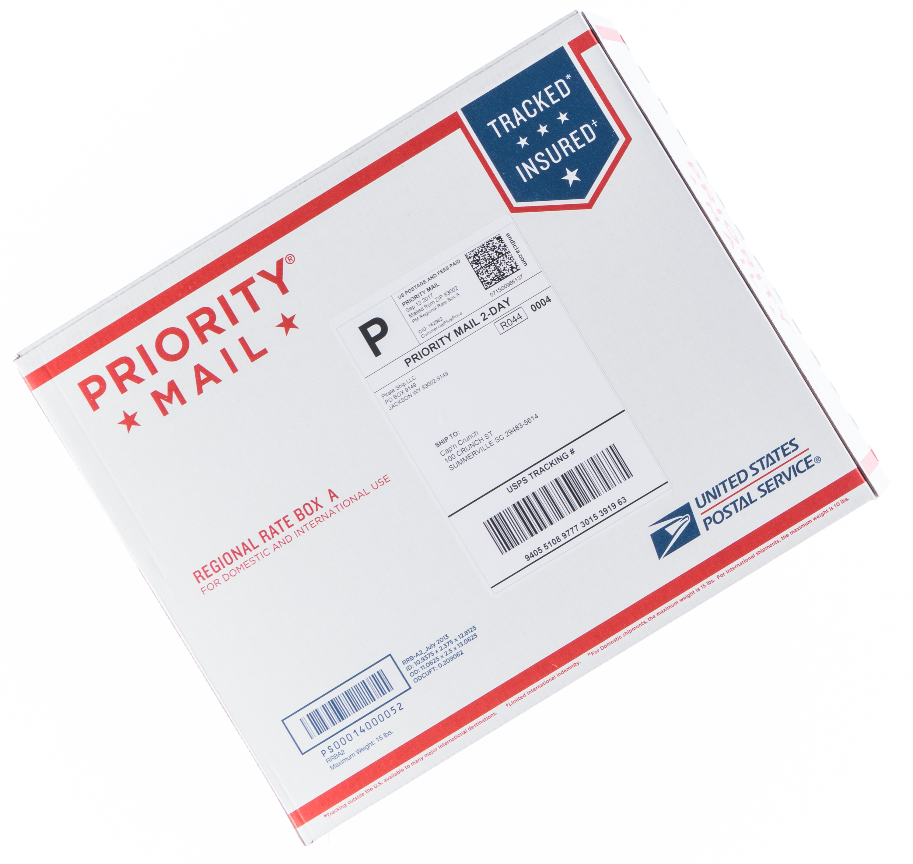 USPS Priority Mail Regional Rate | Pirate Ship