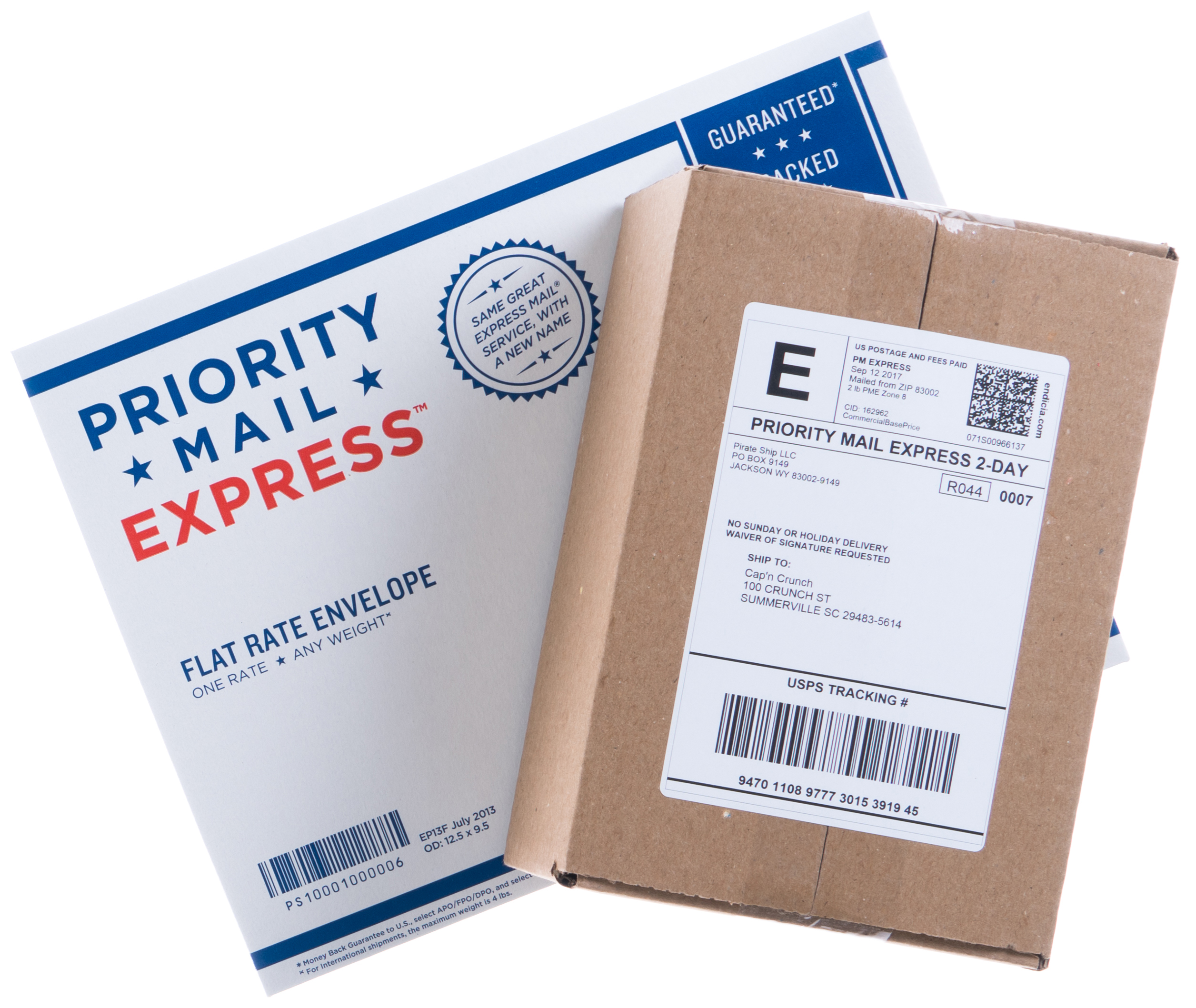 Priority Mail Express Flat Rate Envelope and Box